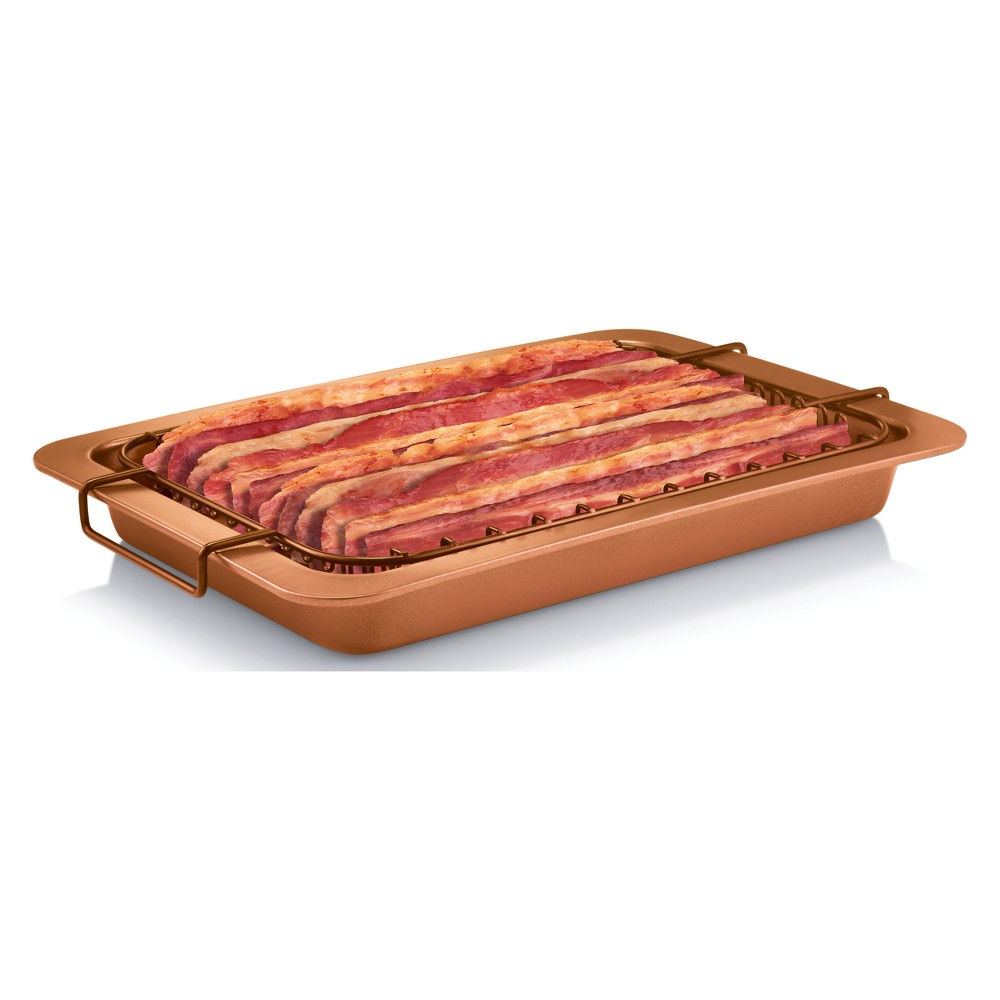 Image of As Seen on TV Gotham Steel Bacon Bonanza Rack and Pan, Brown