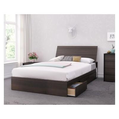 3pc Full Celeste Bedroom Set Dark Brown - Nexera