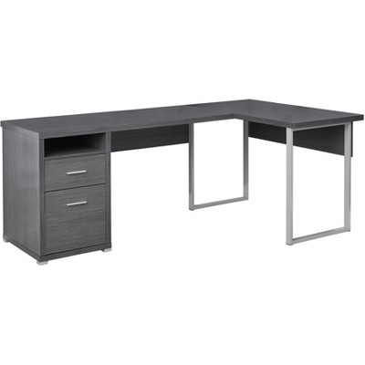 80  Computer Desk Left Or Right Facing Gray - EveryRoom