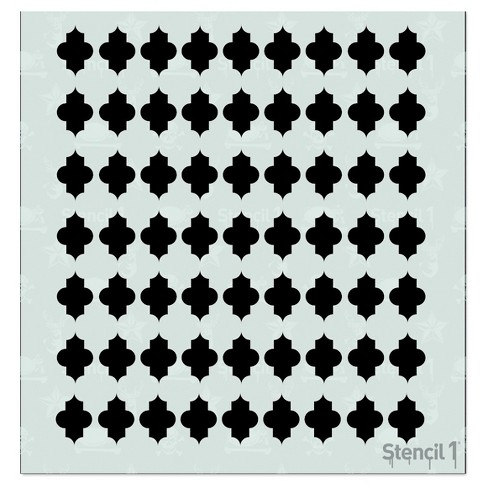 "Stencil1® Quatrefoil Repeating - Stencil 5.75"" x 6"" - image 1 of 3"