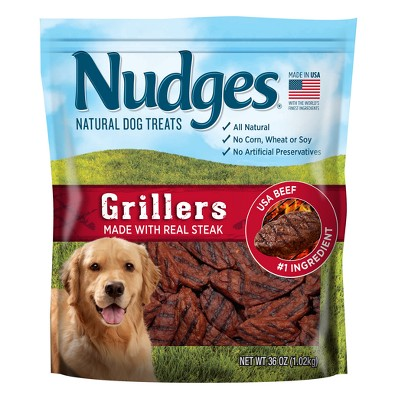 Nudges Steak Grillers Natural Dog Treats - 36oz