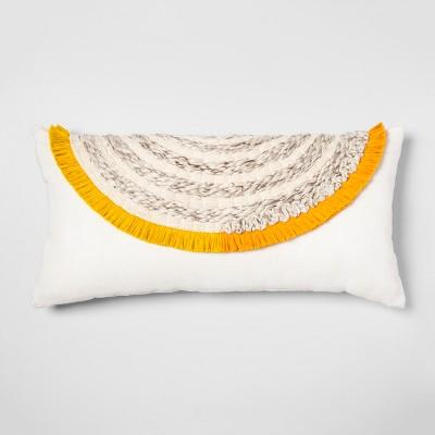 Yarn Applique Oversized Lumbar Throw Pillow Cream - Opalhouse™