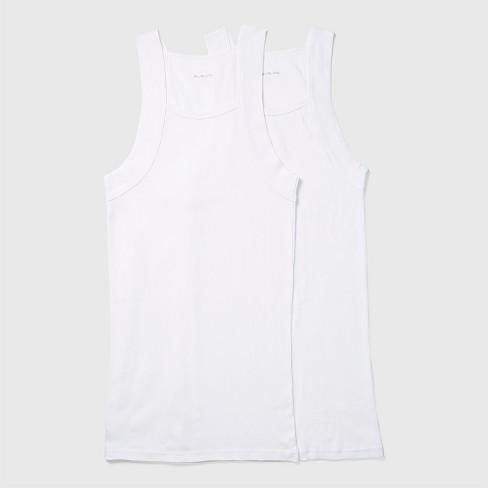 Evolve by 2(X)ist Men's Cotton Square Cut Tank Shirt 2pk - White L - image 1 of 4