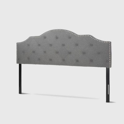 King/California King Cordeaux Contemporary Upholstered Headboard Charcoal Gray - Christopher Knight Home