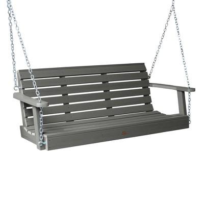 5' Weatherly Porch Swing Coastal Teak Gray - highwood