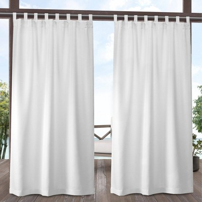 """54""""x120"""" Cabana Easy Closure Tab Top Light Filtering Window Curtain Panels - Exclusive Home"""