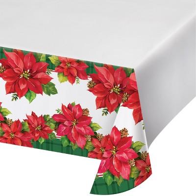 Attrayant Poinsettia Plastic Tablecloth