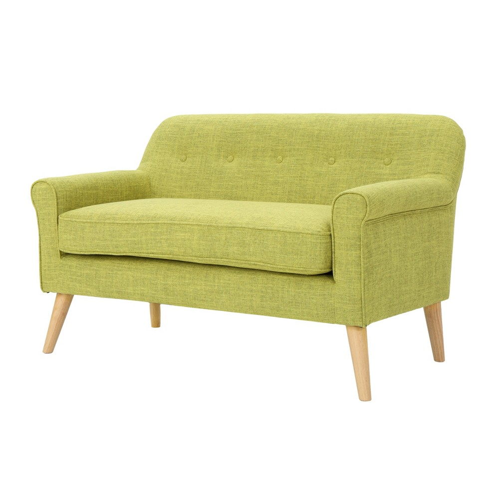 Mariah Mid-Century Loveseat - Muted Green - Christopher Knight Home