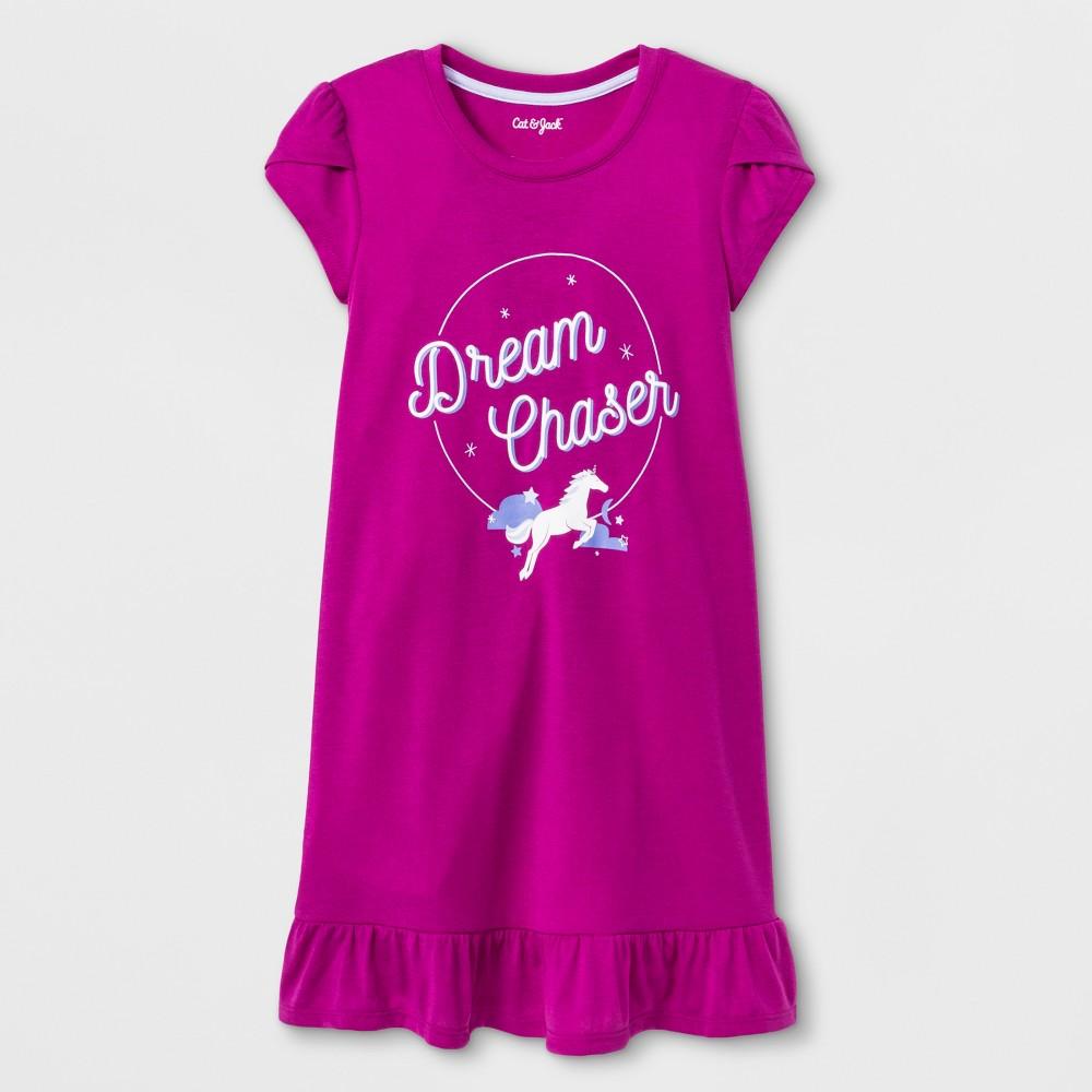 Girls' Chaser Nightgown - Cat & Jack Fuchsia XL, Purple