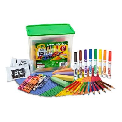 Crayola 80pc Creativity Tub Art Supplies