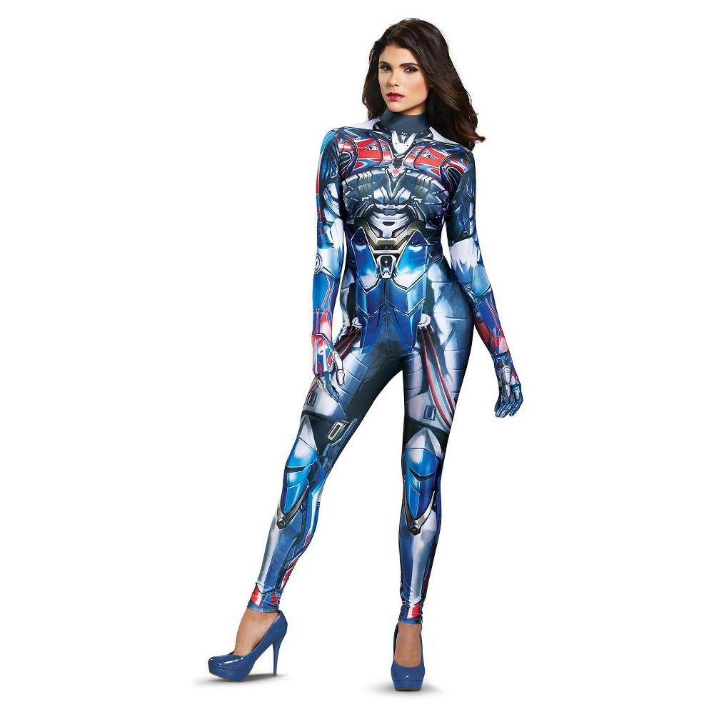 Women's Transformers - Optimus Prime Bodysuit Adult Costume Small, Multicolored