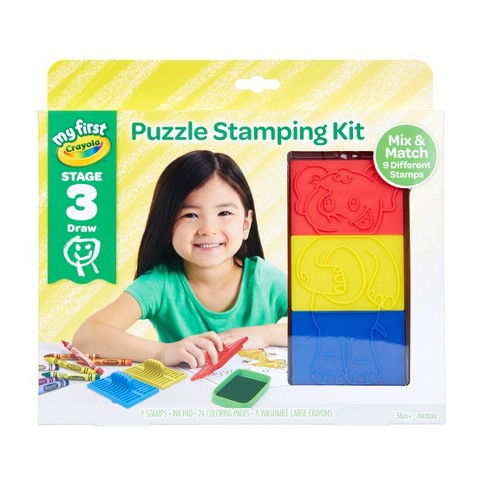 19pc My First Crayola Stage 3 Puzzle Stamping Kit - image 1 of 4