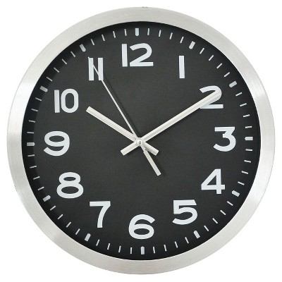 10  Round Wall Clock Black/Silver - Threshold™