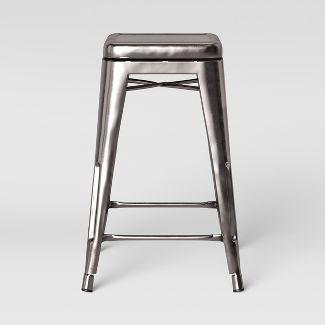 Carlisle Backless Swivel 1 Counter Stool Silver - Threshold™