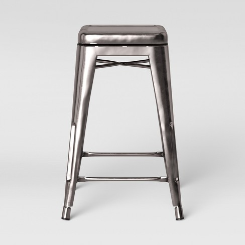 Super Carlisle Backless Swivel 1 Counter Stool Silver Threshold Alphanode Cool Chair Designs And Ideas Alphanodeonline