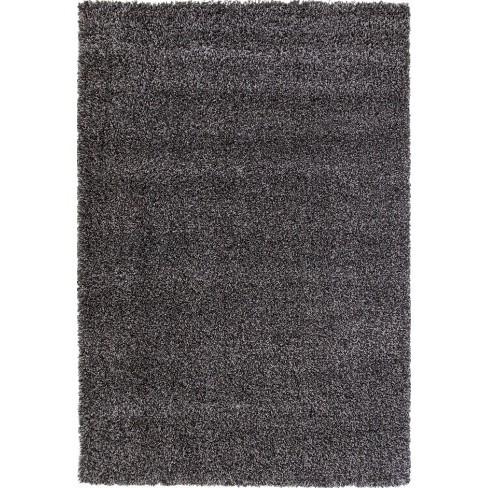 Abacasa Comfort Shag Charcoal 8x10 Area Rug - Sam's International - image 1 of 1
