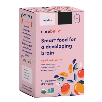 Cerebelly Clean Label Project Purity Award Winning, 11+ Months Organic Baby Food Variety pk