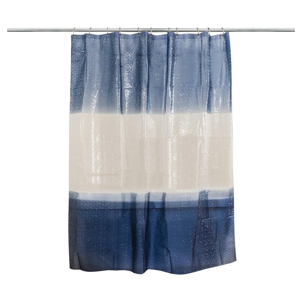 Stripe Shower Curtain Blue - Splash Home