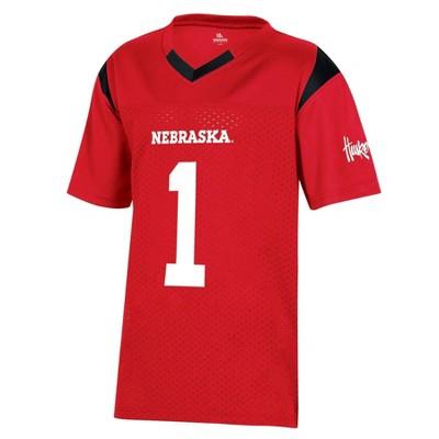 NCAA Nebraska Cornhuskers Boys' Short Sleeve Jersey
