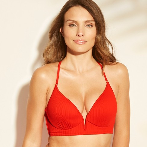 104a7c67542ec Women s Dream Lightly Lined V Wire Ribbed Bikini Top - Shade   Shore ...