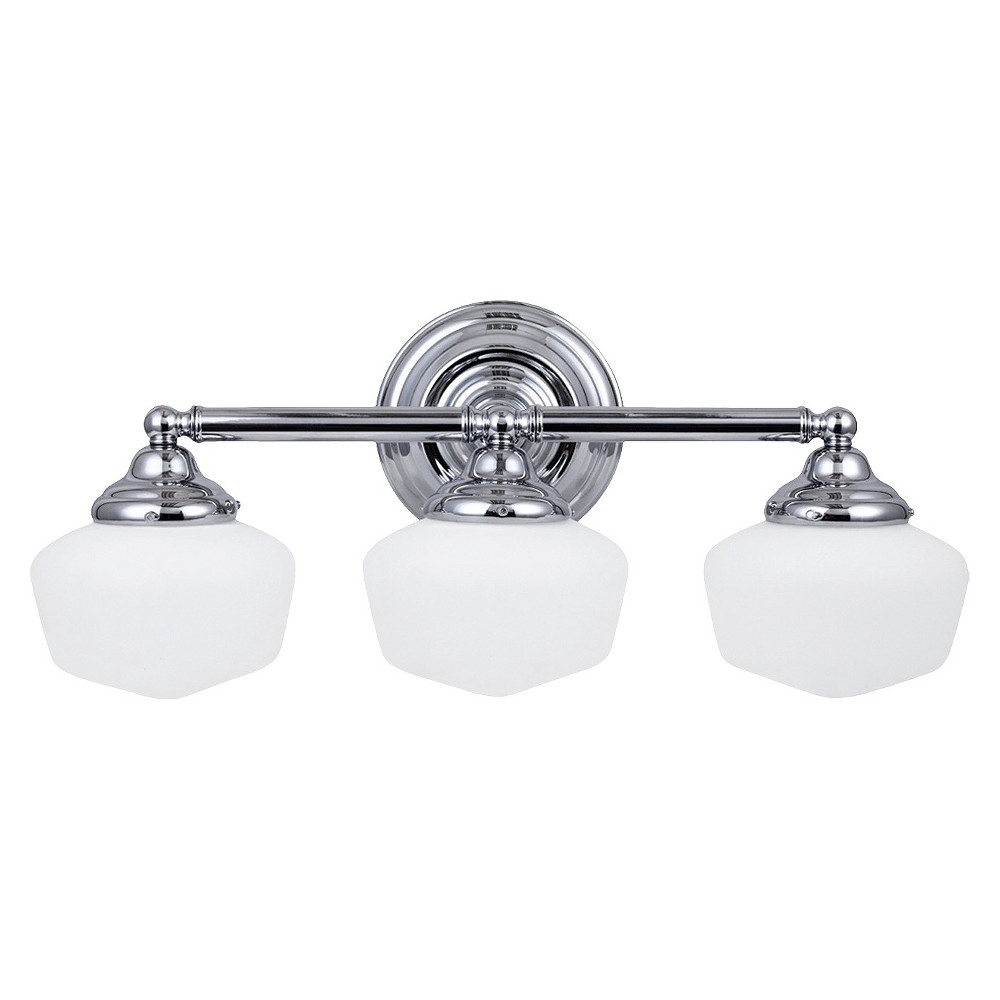 Sea Gull Lighting Academy Three Light Bath Sconce - Chrome, White