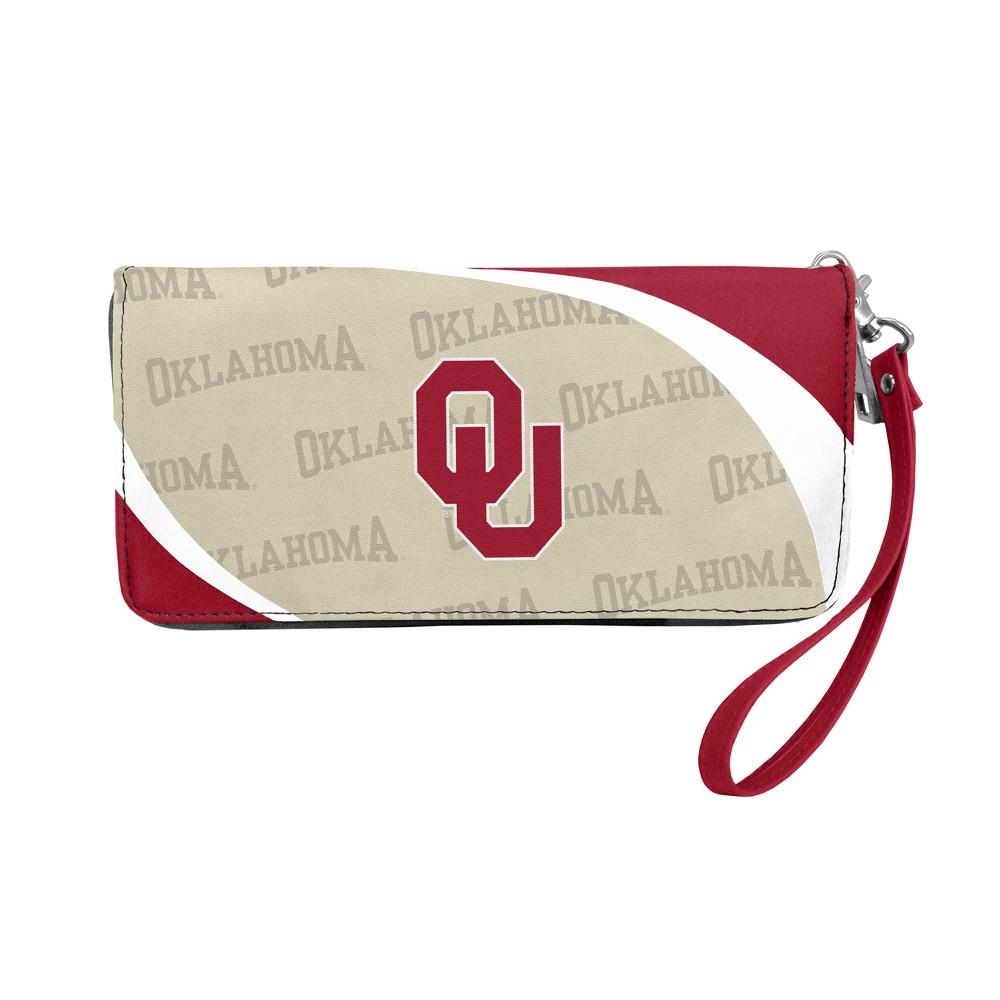 NCAA Oklahoma Sooners Little Earth Curve Zip Organizer Wallet, Adult Unisex