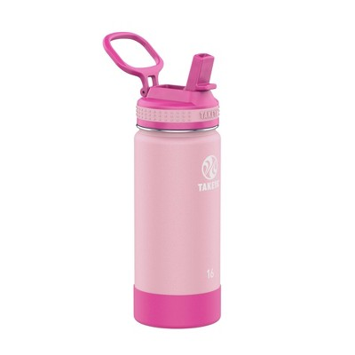 Takeya 16oz Actives Insulated Stainless Steel Kids' Water Bottle with Straw Lid