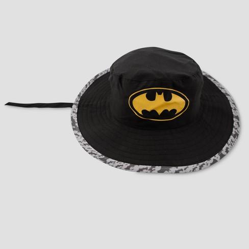 Toddler Boys  DC Comics Batman Safari Sun Hat - Black One Size   Target 6dee055b1cf