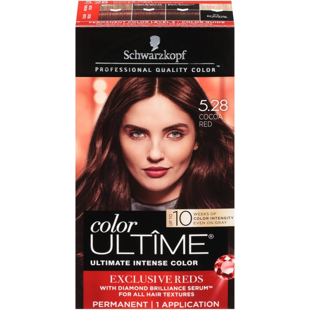 Image of Schwarzkopf Color Ultime Flaming Reds Hair Color 5.28 Cocoa Red - 2.03 fl oz