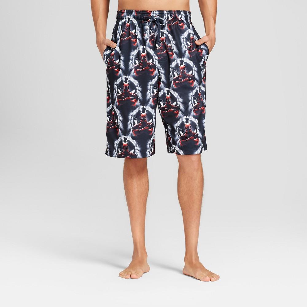 Men's Deadpool Stray Bullet Pajama Shorts - Black S