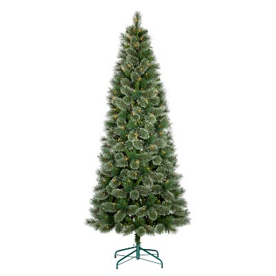 7.5ft Prelit Artificial Christmas Tree Slim Virginia Pine Clear Lights   Wondershop™ by Shop This Collection