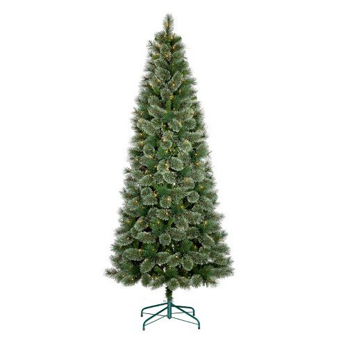 75ft prelit artificial christmas tree slim virginia pine clear lights wondershop