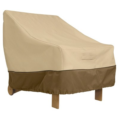 Veranda Deep Patio Lounge Chair Cover - Light Pebble - Classic Accessories
