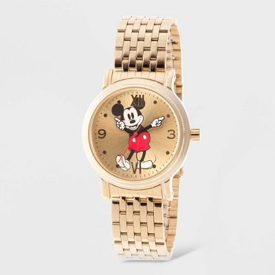 Women's Disney Mickey Mouse Vintage Bracelet Watch - Gold