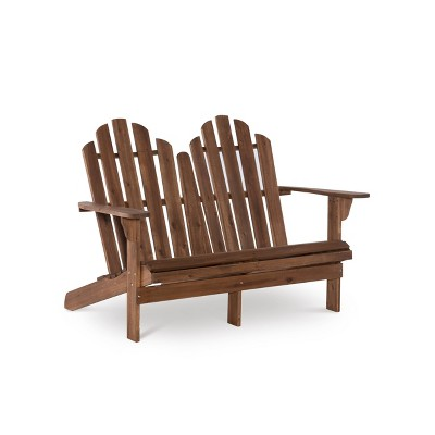 Adirondack Double Bench Acorn Finish - Linon