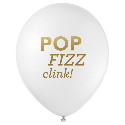 """12ct """"Pop Fizz Clink"""" Party Balloons - image 1 of 2"""