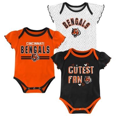 NFL Cincinnati Bengals Baby Girls' Bodysuit Set 3pk