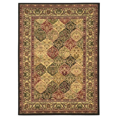 Elegance Tabriz Rug Off White/Black/Red - Linon