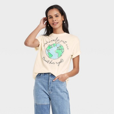 Women's We've Only Got One Short Sleeve Graphic T-Shirt - Cream