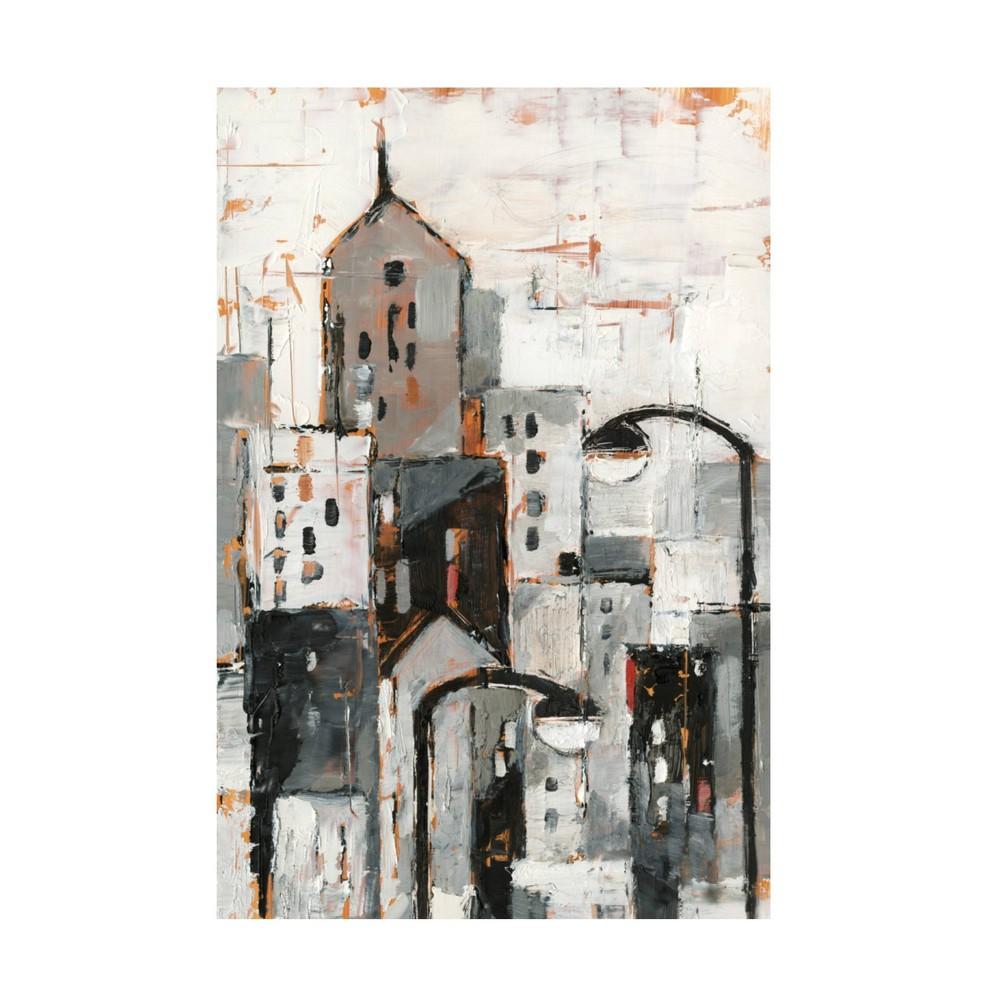 "Promos 12"" x 19"" Ethan Harper 'Illuminated City I' Unframed Canvas Art - Trademark Fine Art"