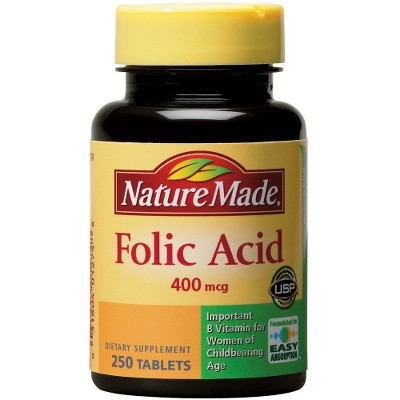 Nature Made Folic Acid Dietary Supplement Tablets - 250ct