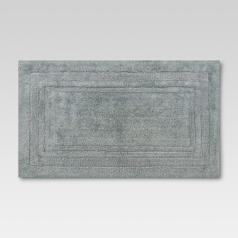 Performance Cotton Bath Rug Classic Gray (20x34) - Threshold