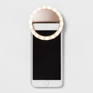heyday™ Cell Phone Selfie Light - Metallic Rose Gold