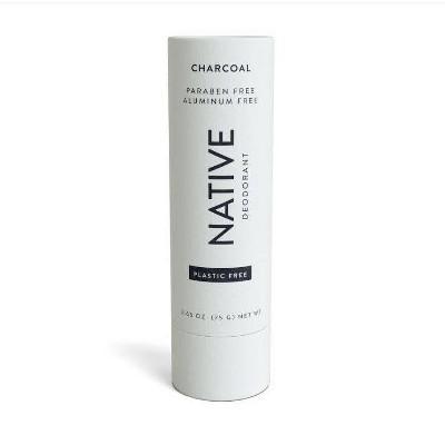 Native Plastic Free Charcoal Deodorant for Women - 2.65oz