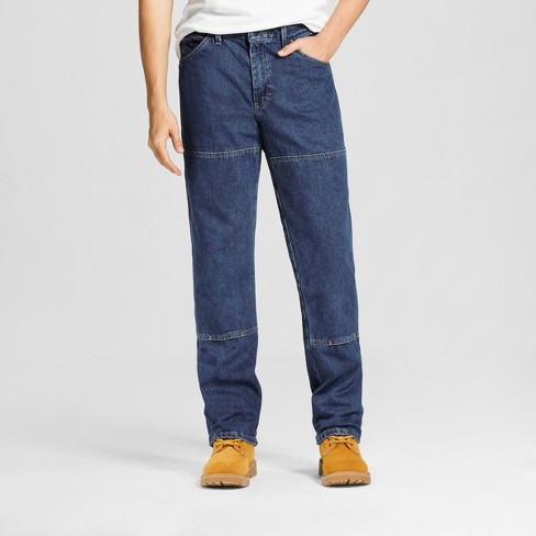 Dickies Men's Relaxed Straight Fit Double Knee Denim 6-Pocket Jeans - image 1 of 4