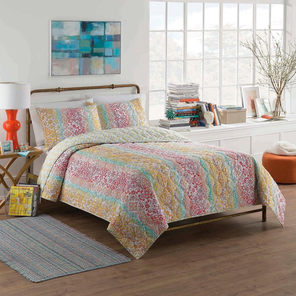 Shoshana Quilt Set Full/Queen Multicolor 3 Piece - Vue, Multicolored
