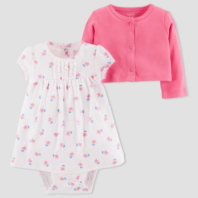 Baby Girls' 2pc Dress Set - Just One You® made by carter's Pink/White 3M