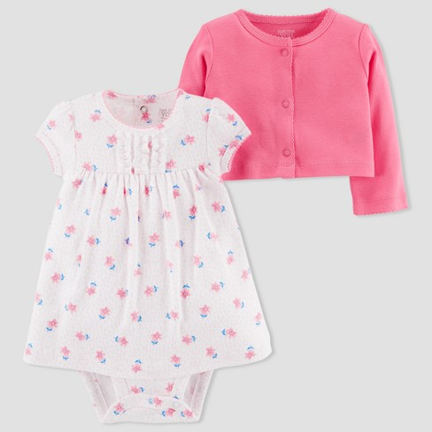 ff9b69eb5 Baby Girls  2pc Dress Set - Just One You® Made By Carter s Pink ...