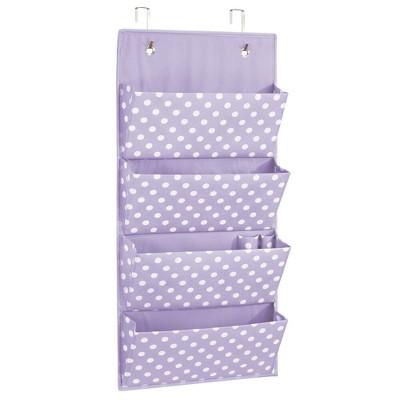 mDesign Kids Fabric Over Door Hanging Storage, 4 Pocket