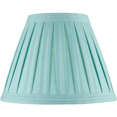 Springcrest Turquoise Linen Box Pleat Empire Lamp Shade 7x14x11 (Spider)